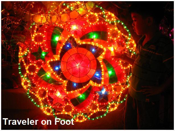 christmas parol traveler on foot - Filipino Christmas Star