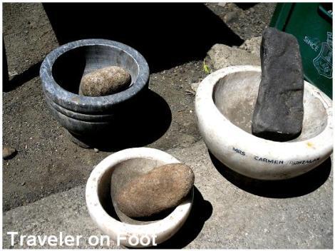 Antique Kitchenware Traveler On Foot