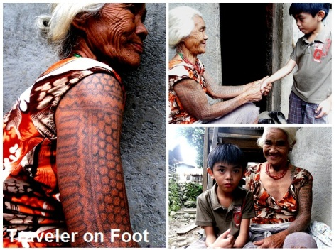 Tinglayan tattooed Kalinga woman