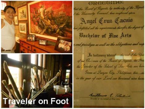 Angel Cacnio diploma