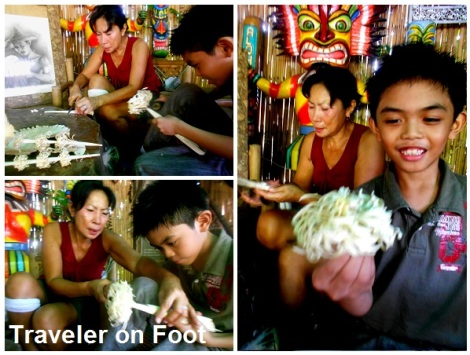 Pakil wood shaving flower